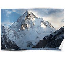 K2 Savage Mountain - Digital Pencil Resketch Poster