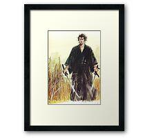 Miyamoto Musashi - Vagabond - Raw - Dual Wield  Framed Print