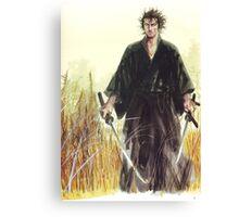 Miyamoto Musashi - Vagabond - Raw - Dual Wield  Canvas Print