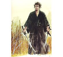 Miyamoto Musashi - Vagabond - Raw - Dual Wield  Photographic Print