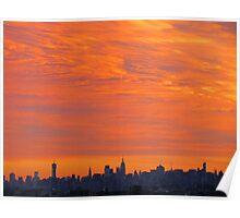 Autumn Sky, New York City  Poster