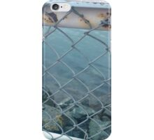 Rusted Wet Railing by the Ocean iPhone Case/Skin
