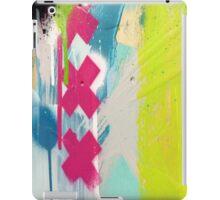 Pink cross paint strokes iPad Case/Skin