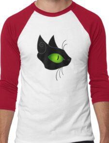 Kitty Kitty Black Men's Baseball ¾ T-Shirt
