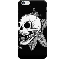 Skull Ball Gag Feathers iPhone Case/Skin