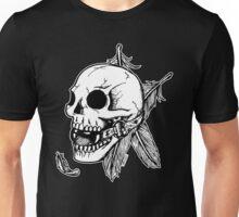 Skull Ball Gag Feathers Unisex T-Shirt