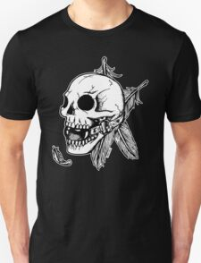 Skull Ball Gag Feathers T-Shirt