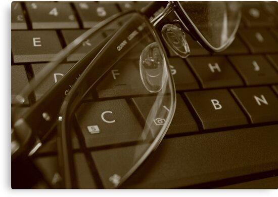 C through glasses by Stephen Thomas
