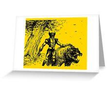Wolverine Ink Illustration Greeting Card