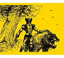 Wolverine Ink Illustration Photographic Print
