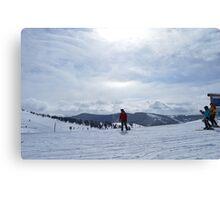 Bowl Skiing Canvas Print