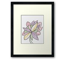 Carnivaled Flower (a Bouquet of Pastel Colours) Framed Print
