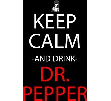 stins gate keep calm and drink dr pepper anime manga shirt Photographic Print