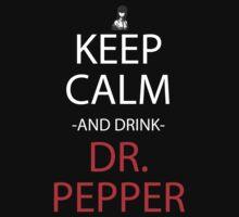 stins gate keep calm and drink dr pepper anime manga shirt by ToDum2Lov3