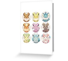 Eevee Evolution Greeting Card