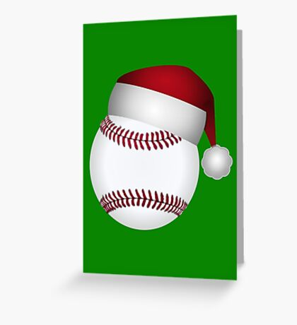 Christmas Baseball Greeting Card