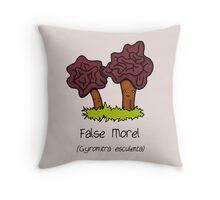 False Morel Throw Pillow