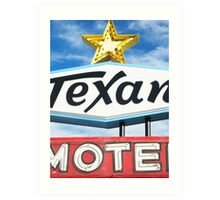 Texan Motel Art Print