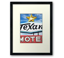 Texan Motel Framed Print
