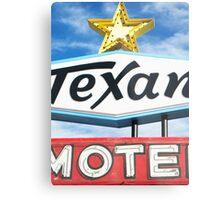 Texan Motel Metal Print