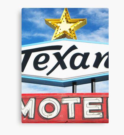 Texan Motel Canvas Print