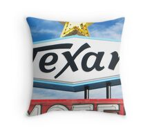 Texan Motel Throw Pillow