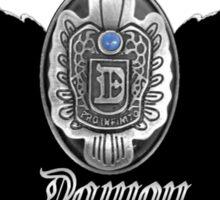My Blood Type Is Damon Red & Black VD Fan Logo Sticker