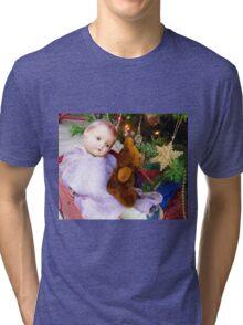 Vintage Christmas Tri-blend T-Shirt