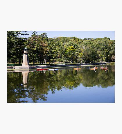Kayak on Fox River Photographic Print