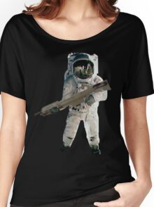 Astro the fun naut: WITH A LAZAR GUN!!!! Women's Relaxed Fit T-Shirt
