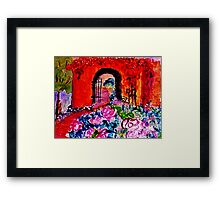 Archway too?  watercolor Framed Print