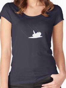 Shuttle landing Women's Fitted Scoop T-Shirt