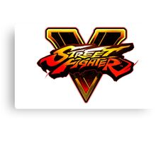Street Fighter V - Logo Canvas Print