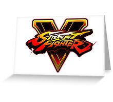 Street Fighter V - Logo Greeting Card