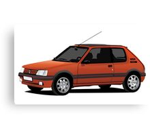 Peugeot 205 GTi red Canvas Print