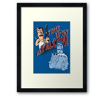 Yippee Ki-Yay, Mr Falcon! Framed Print