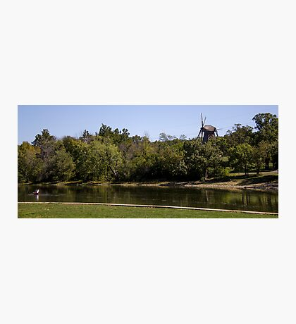 Windmill overlooking Fox River Photographic Print