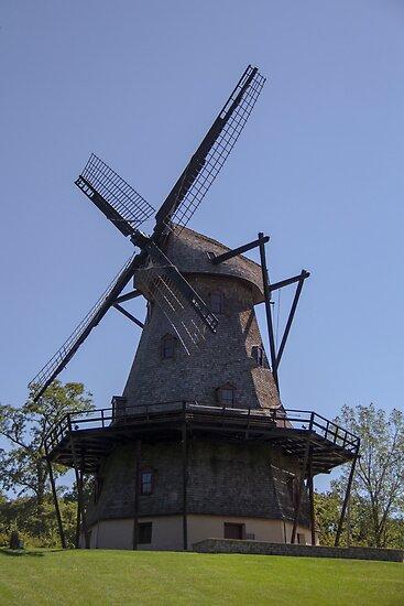 Windmill in Geneva, Illinois by Deanna Heitschmidt