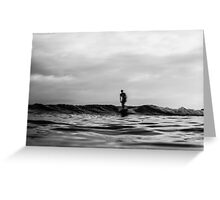 Longboard water blur Greeting Card