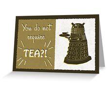 Dalek Tea Time Greeting Card