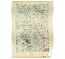 USGS Topo Map Washington State WA Seattle 243630 1897 125000 Poster