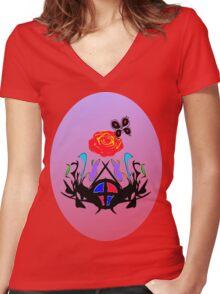 ை♠Vintage Royal Crest Clothing & Stickers&♠ை Women's Fitted V-Neck T-Shirt