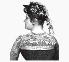 Tattooed Victorian Woman Kids Clothes