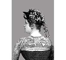 Tattooed Victorian Woman Photographic Print