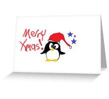 Xmas Penguin Greeting Card