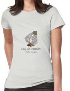 Long-net Stinkhorn (with smiley face) Womens Fitted T-Shirt