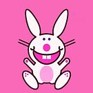 Cute Pink Bunny iPhone 4/4s case by Jnhamilt