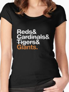 San Francisco Giants 2012 Opponents (Tigers) Women's Fitted Scoop T-Shirt