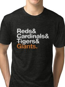 San Francisco Giants 2012 Opponents (Tigers) Tri-blend T-Shirt