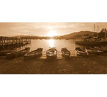 Waterhead Sunset Photographic Print